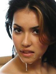 Maria Ozawa gets sticky cum facial