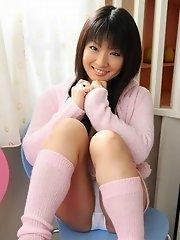 Akane Ozora spreading in her room