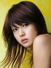 Asian teen hottie models sexy lingerie