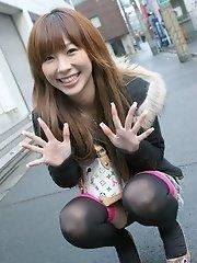 Lovely Asian model shows her body off