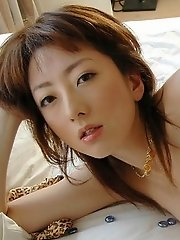 Asian model Juri shows her firm tits