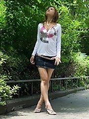 Maria Ozawa sexy Asian teen shows nice legs in mini