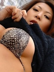 Asian doctor shows off tits to her patient
