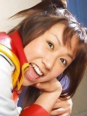 Akane plays she is a schoolgirl getting laid
