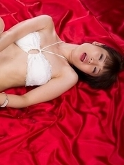 Mizuki showing off her eager pussy and fucking it with her delicate fingers