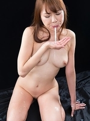 Miharu Kai Cum Covered Group Handjob