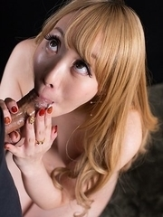 Airi Mashiro Covers Dick with Sticky Cum with Her Mouth