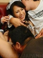 Hot Asuka Tsukamoto has trimmed pussy licked