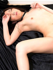 18 year old Chiemi Yada begs like a dog for dick.