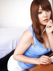 Meguri with huge boobs is very naughty while doing homework