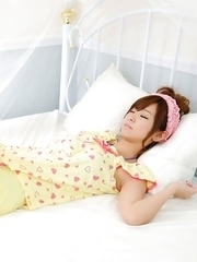 Ichika Nishimura is the cuttest doll in yellow pyjamas
